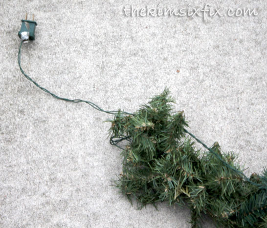How to string lights on garland