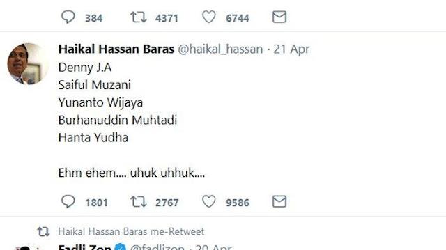 Haikal Hassan Minta Maaf Gunakan Data Hoax Soal 13 Juta Orang Gila Nyoblos, KPU Beberkan Data