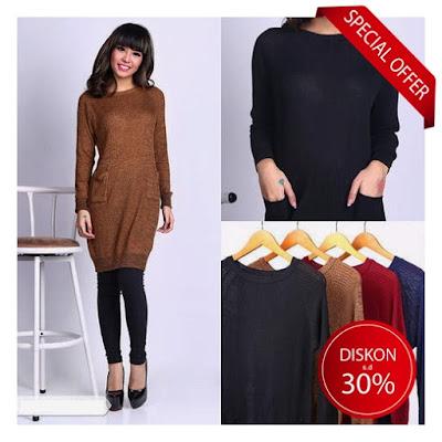 sweater rajut wanita murah tunik tunic sweater baju impor korea murah