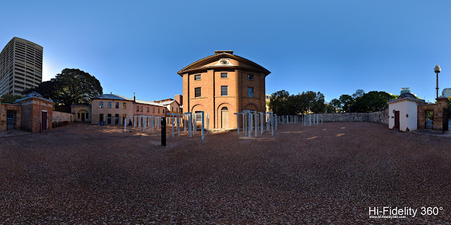 Panoramas of Hyde Park Barracks, Sydney, Australia