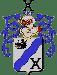 Armoiries Nolet de Brauwere (fer de moulin alias Schiedam et Saint André)
