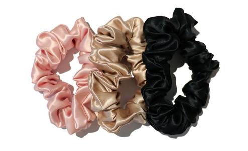 Colourful Silk Scrunchies