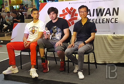 Kobe Paras and Andre Paras with Taiwan Excellence