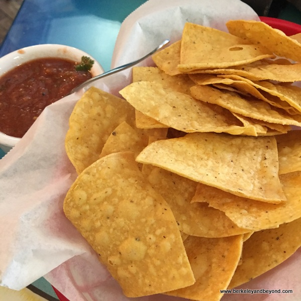 chips and salsa at San Jalisco in San Francisco's Mission District