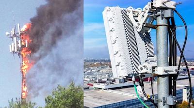 ماهي أسباب حرق أبراج شبكات الجيل الخامس 5G في أوروبا لماذا حرق بريطانيون أبراج شبكات الجيل الخامس 5G