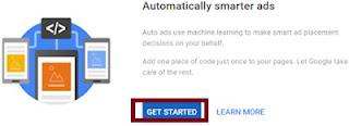 Tampilan notifikasi tersedianya Auto Ads