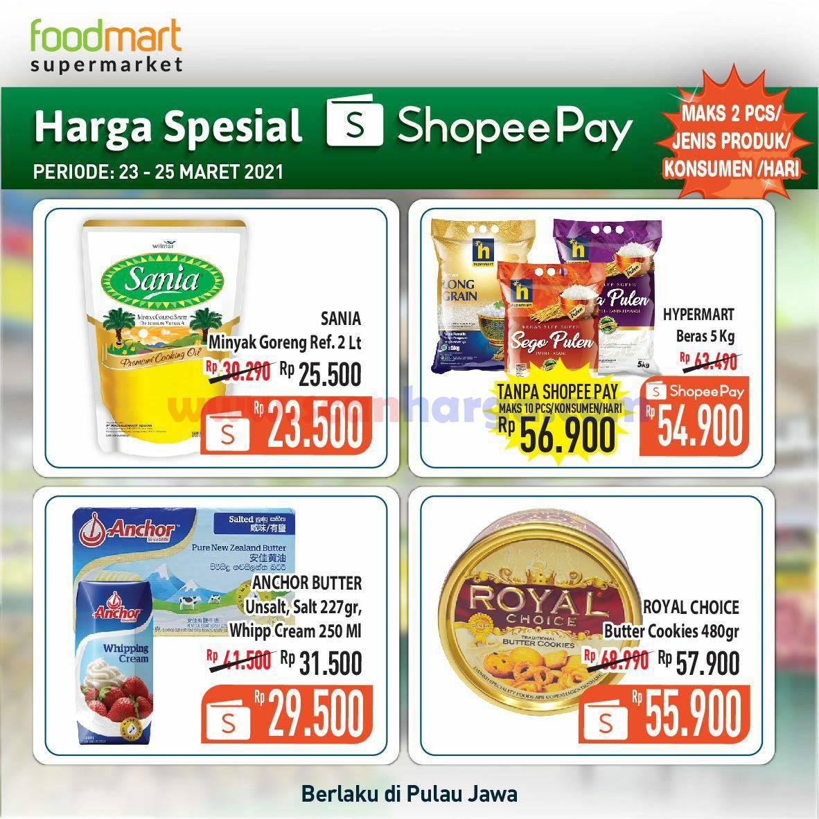 Promo FOODMART harga spesial Transaksi Pakai Shopeepay