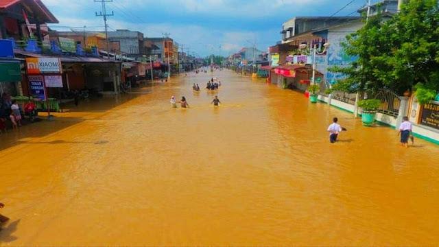 Banjir Riau Telan Korban Jiwa, 2 Balita Tewas Terseret Arus