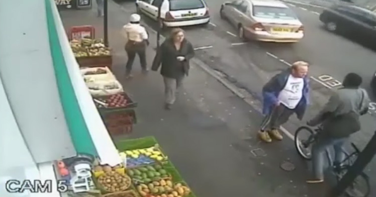 The one punch that killed a man, caught on CCTV.