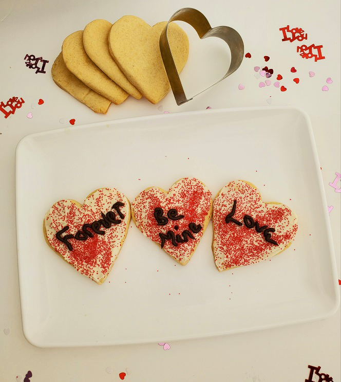 loft cookies in the shape of a heart