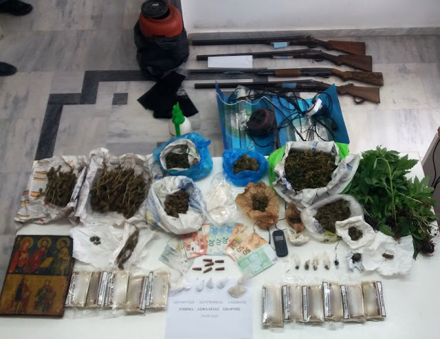 Συνελήφθησαν 4 άτομα με κοκαΐνη, κάνναβη και 70 δενδρύλλια στη Λακωνία