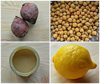 Hummus z burakami - składniki