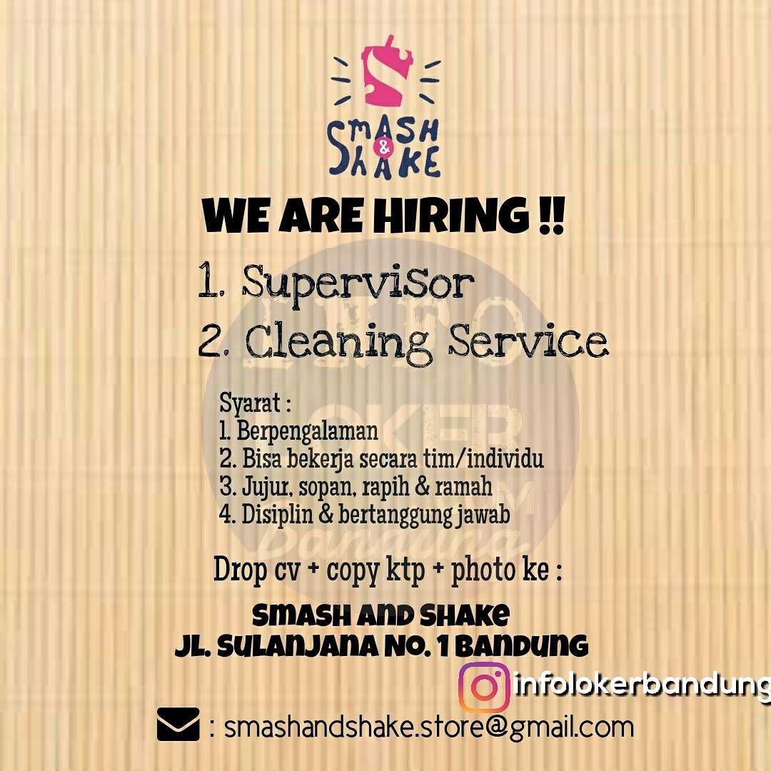 Lowongan Kerja Smash & Shake Cafe Bandung Oktober 2017