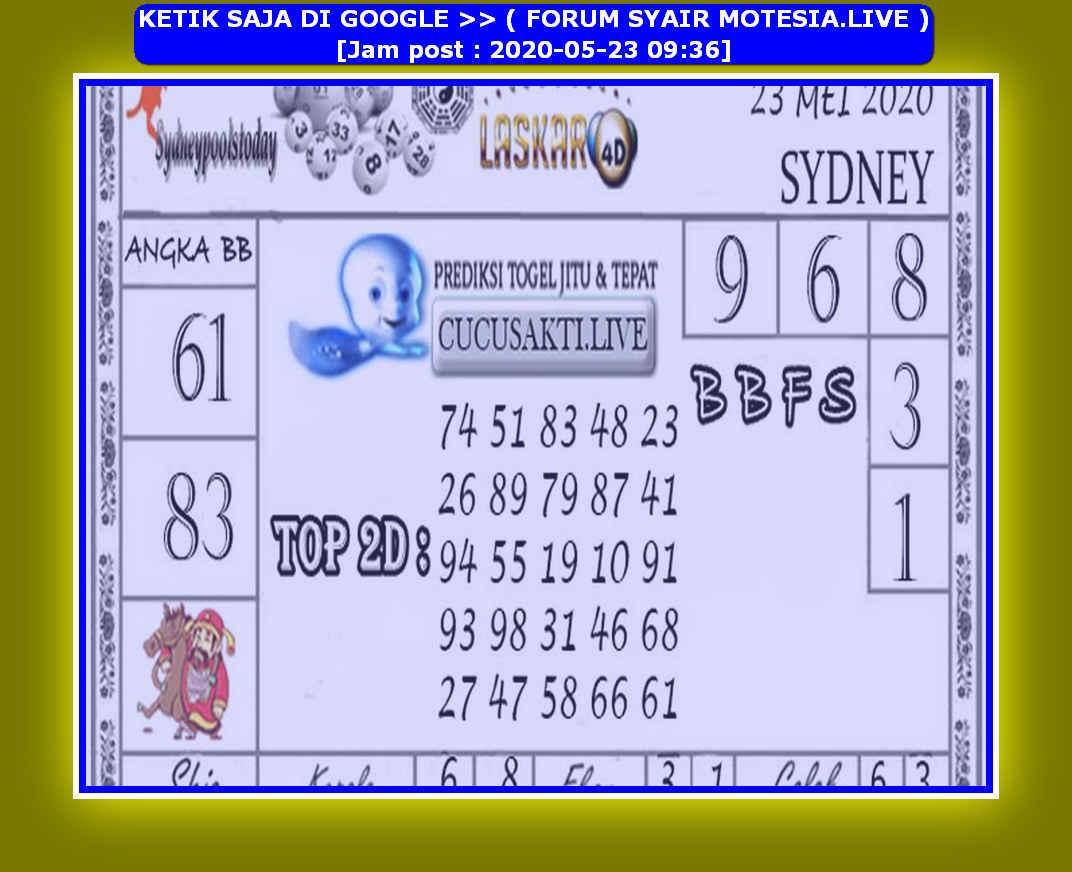Kode syair Sydney Sabtu 23 Mei 2020 170