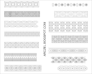 Autocad Block - Continuous Decorative Pattern