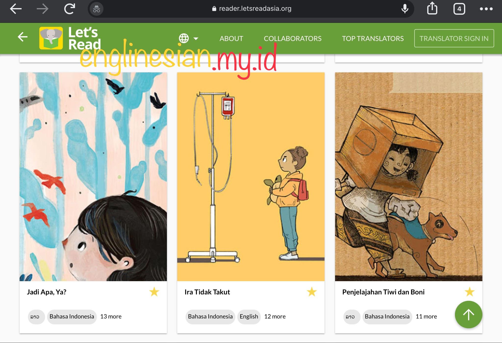 Englinesian: Let's Read Platform Cerita Bergambar