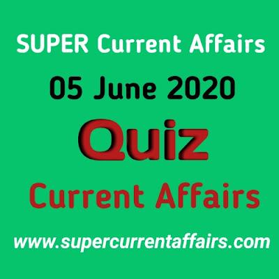 5 June 2020 Current Affairs Quiz in Hindi