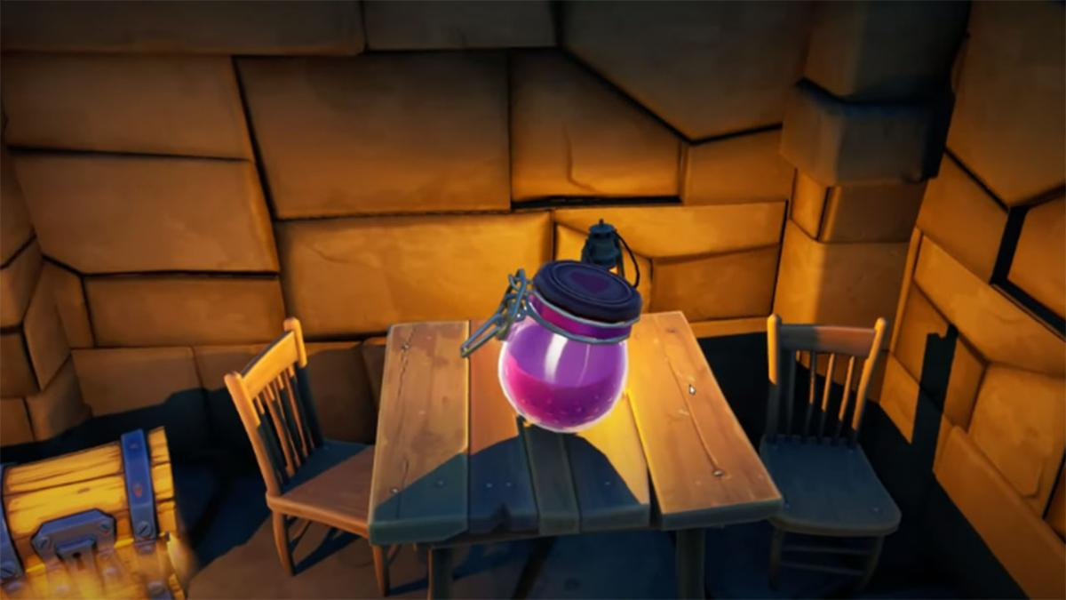 Where to collect Bonachón's love potion in Ruinous Fort, Coral Cove or Sneaky Fiefdom in Fortnite