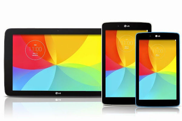 LG G Pad 7.0, 8.0 and 10.1 Android tablets