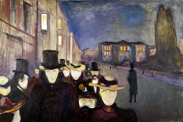 """Karl Johan ao Anoitecer"" (1892), de Edvard Munch"