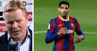 Barcelona boss Koeman impressed Araujo performance, names one aspect youngster still has to work on
