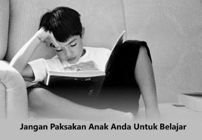 jangan paksakan anak anda untuk belajar