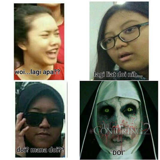 DP BBM Meme Valak The Conjuring 2 Gokil Lucu Seram