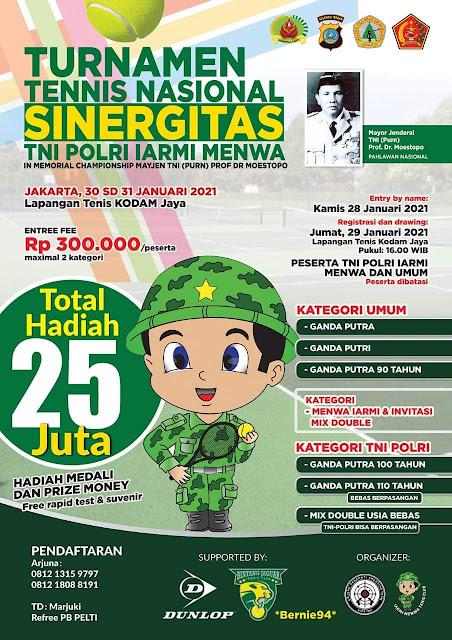 TURNAMEN TENIS NASIONAL SINERGITAS TNI POLRI IARMI MENWA