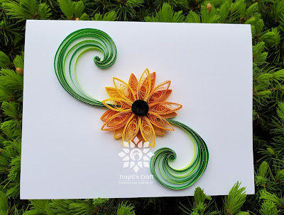 Paper Quilling Sunflower Card