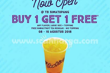 Promo Chatime Now Opening TB Simatupang Buy 1 Get 1 Free