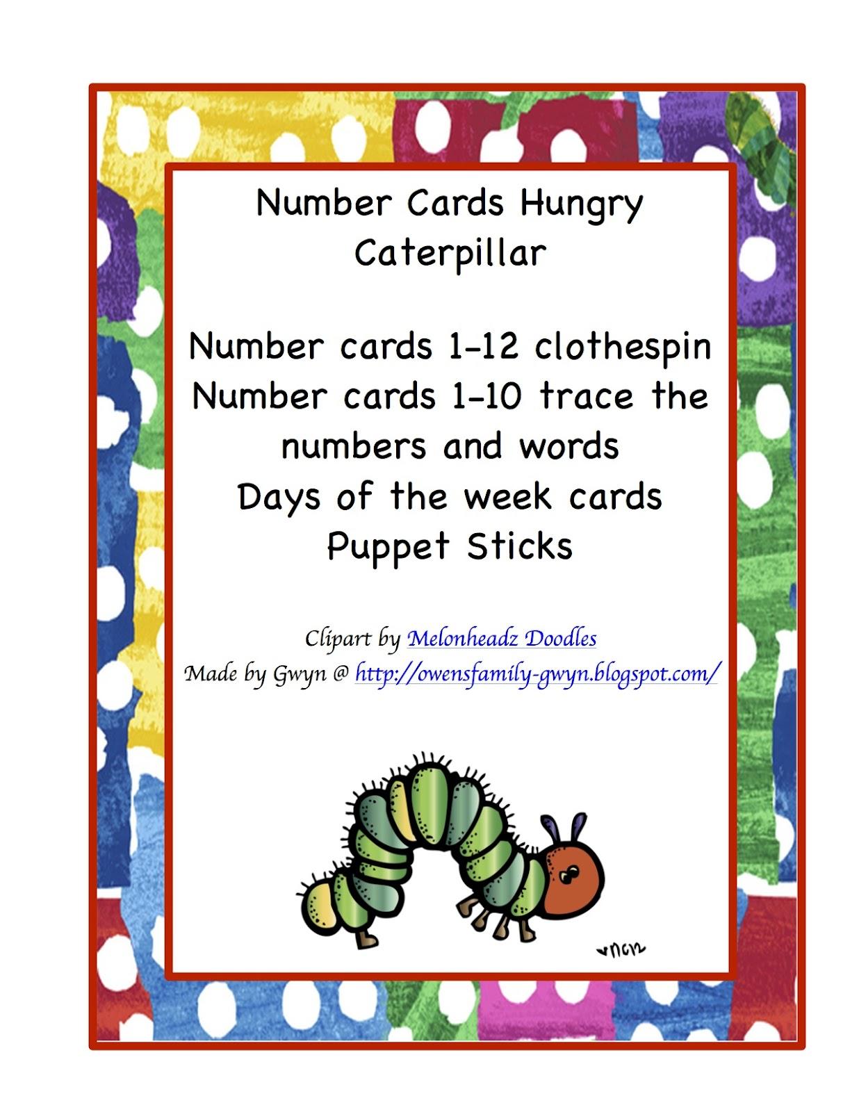 S Teacherspayteachers Product Preschool Bundle Hungry Caterpillar
