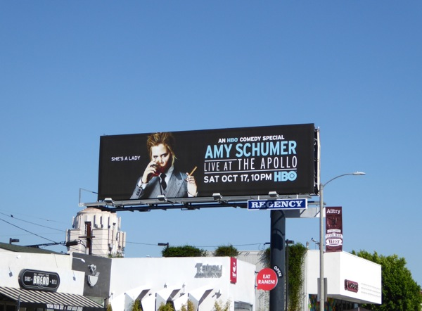 Amy Schumer Live Apollo HBO billboard
