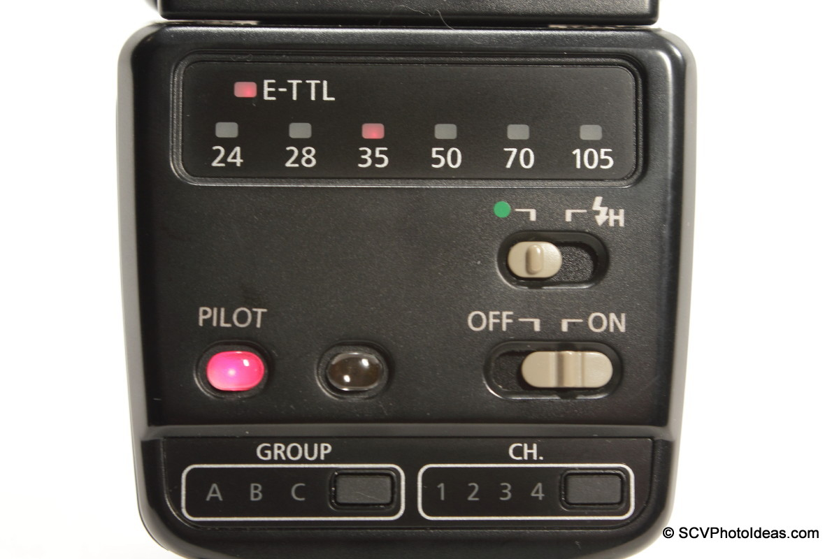 Canon Speedlite 420EX control panel on