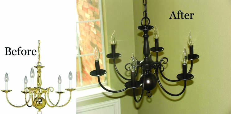Style with cents hardware fixtures for Painting metal light fixture bathroom