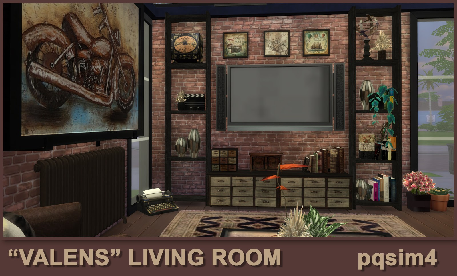 Valens living room sims 4 custom content for Living room sims 4