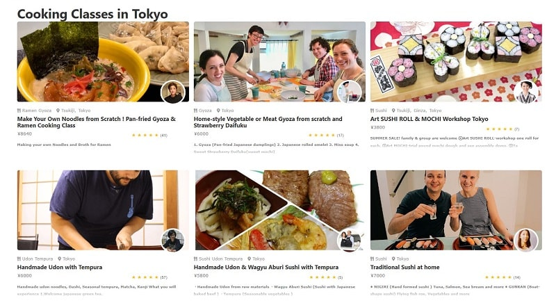 airKitchen, website matching and learn to cook like local Japanese