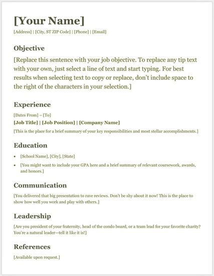 Template Riwayat Hidup Format Microsoft Office Word Versi 3