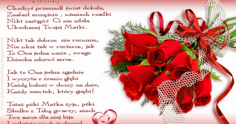Czarymary Barbary Piękny Wierszyk Na święto Mamy