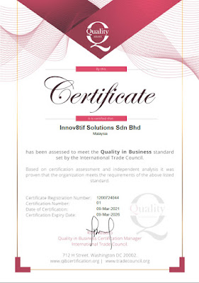 Quality in Business Certification by International Trade Council
