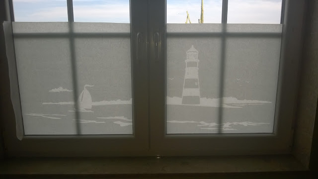 Fensterfolie Leuchtturm