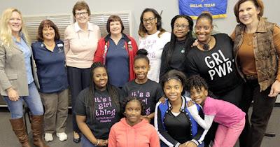 Soroptimist International women and girl volunteers