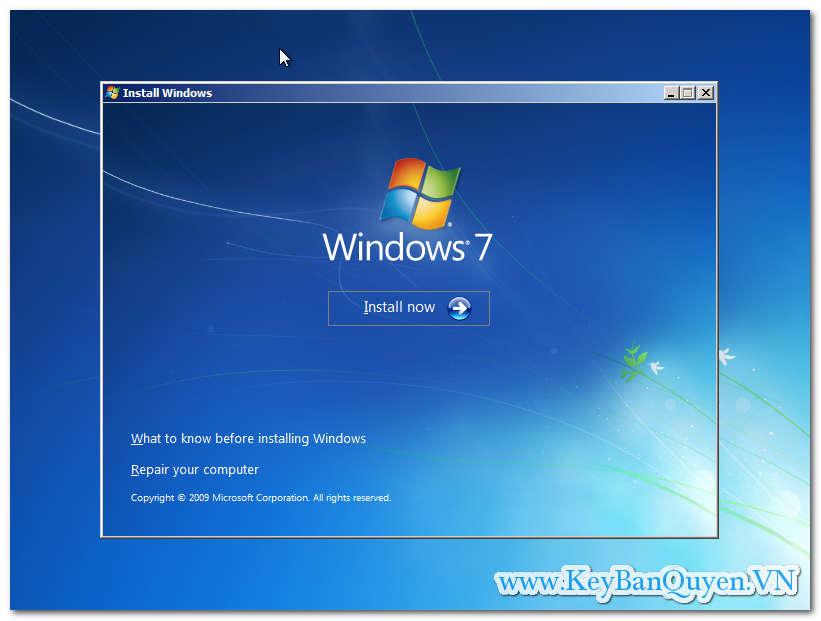 Hướng dẫn cài đặt Windows 7 Ultimate theo chuẩn UEFI - GPT mới nhất.