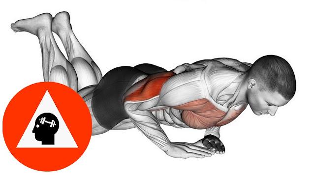 musculation exercice pompes genoux prise sérrée