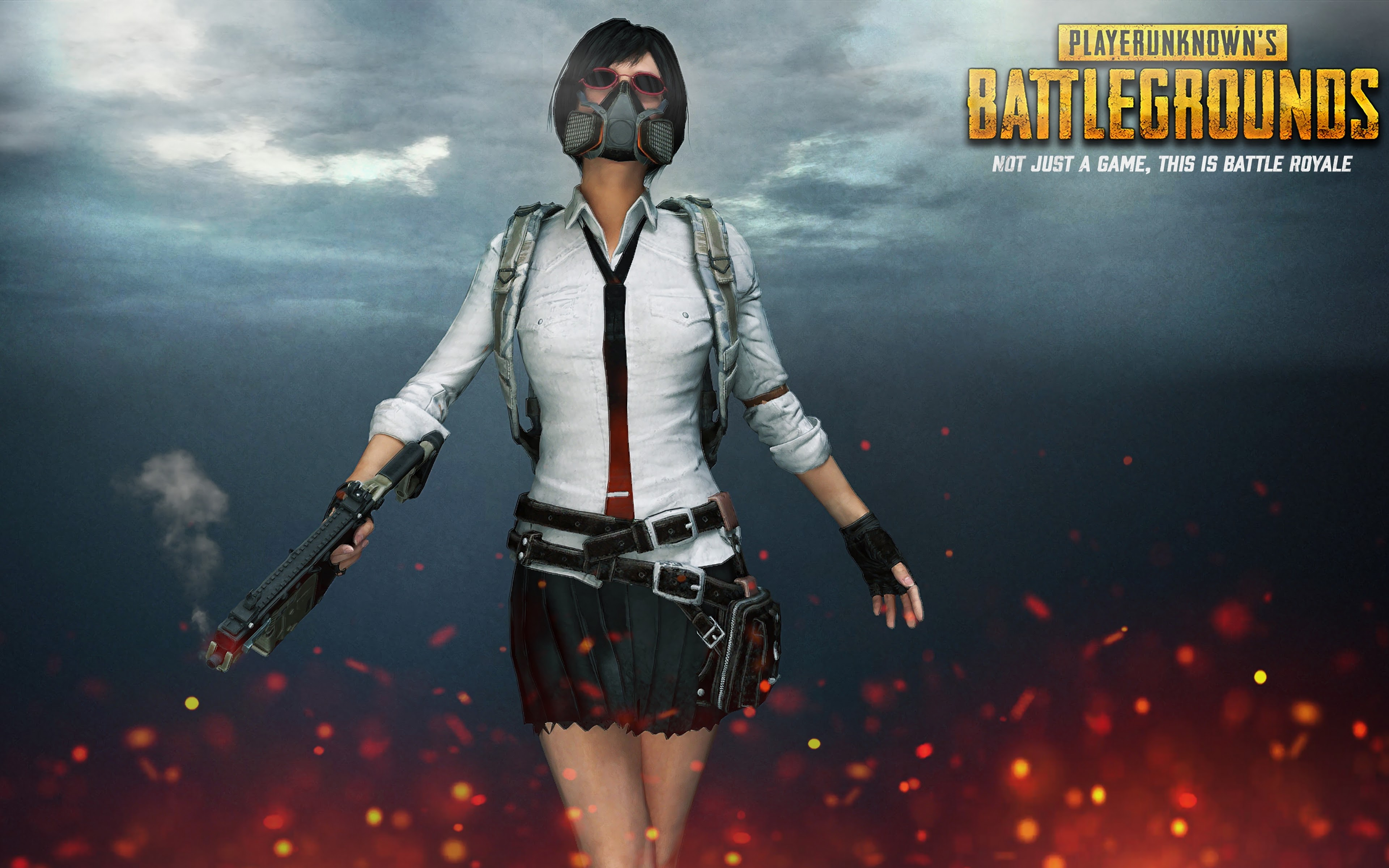Pubg Girl Gas Mask Playerunknowns Battlegrounds 4k 30 Wallpaper