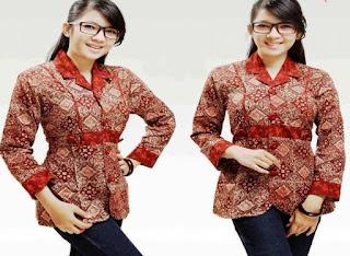 Model Baju Batik Kerja Wanita Modern 2015