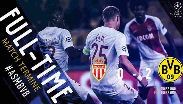 Hasil AS Monaco vs Borussia Dortmund Skor Akhir 0-2