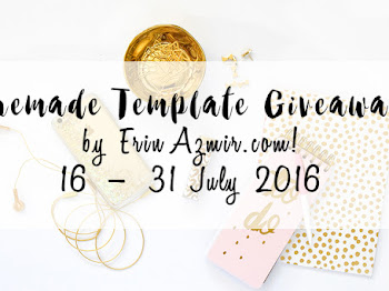 Premade Template Giveaway by ErinAzmir.com