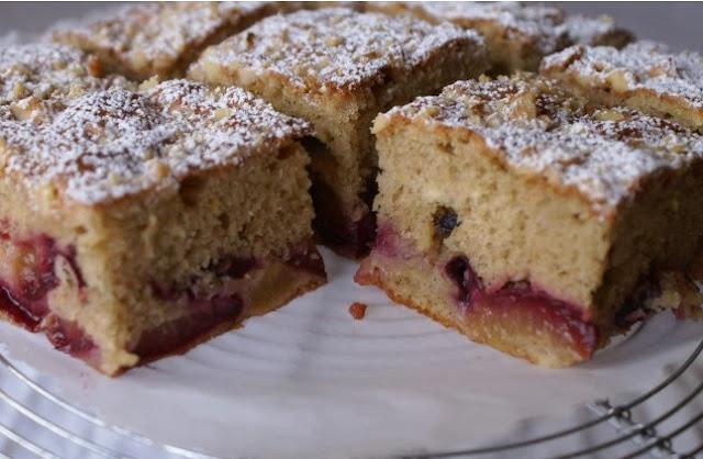 Бабушкин сливовый пирог