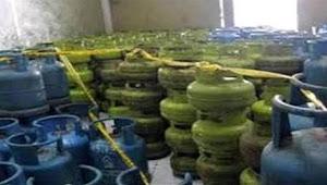 Polisi Grebek pengoplos gas tabung melon di Dua lokasi