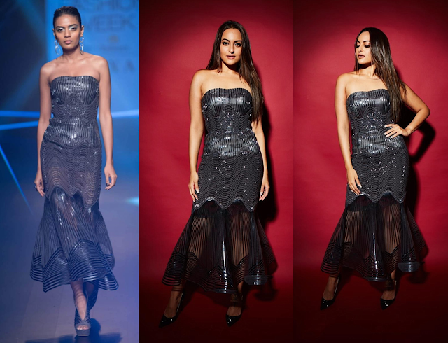 Sonakshi Sinha Wears Amit Aggarwal at Elle Beauty Awards